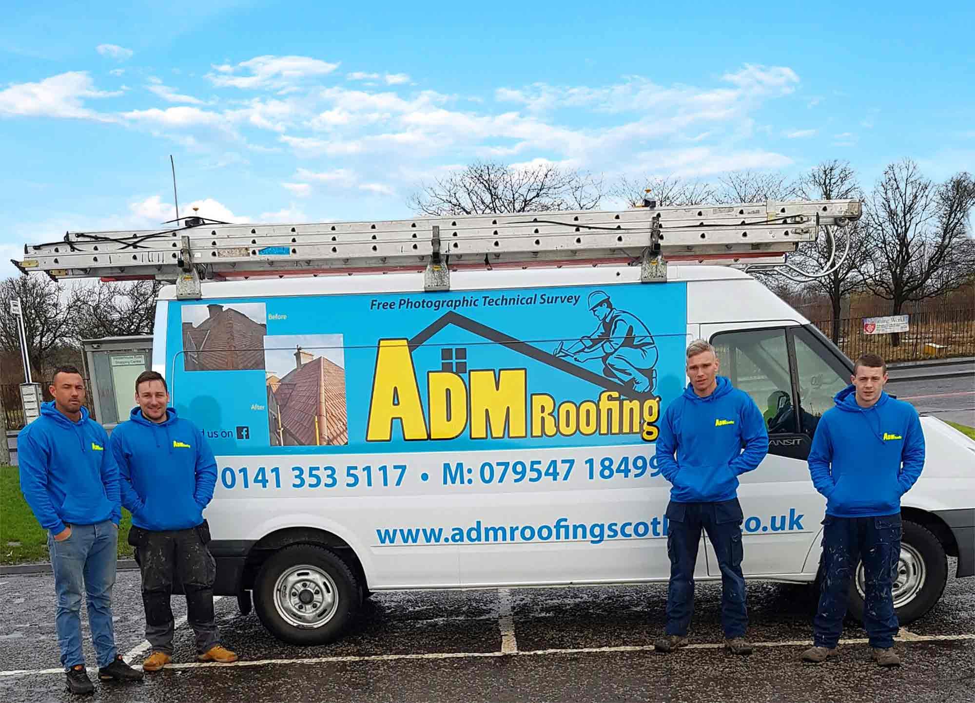 ADM Roofing Roofing Van